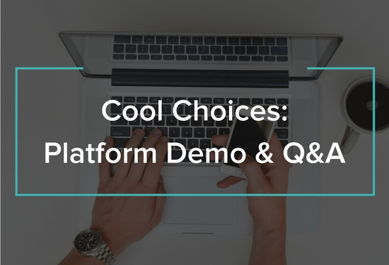 cool choices sustainability program platform demo webinar